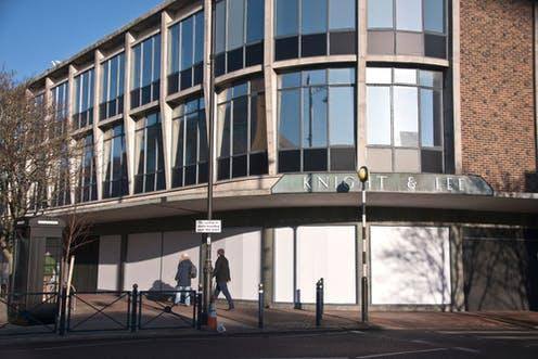 """<span class=""""caption"""">Closed department store in Southsea, Hampshire.</span> <span class=""""attribution""""><a class=""""link rapid-noclick-resp"""" href=""""https://www.shutterstock.com/image-photo/21-january-2020-john-lewis-southsea-1623095626"""" rel=""""nofollow noopener"""" target=""""_blank"""" data-ylk=""""slk:Sonicpuss/Shutterstock"""">Sonicpuss/Shutterstock</a></span>"""