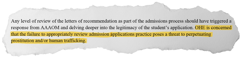 The Minnesota Office of Higher Education ordered the American Academy of Acupuncture and Oriental Medicine to sell itself or close, but lacked authority to prosecute.
