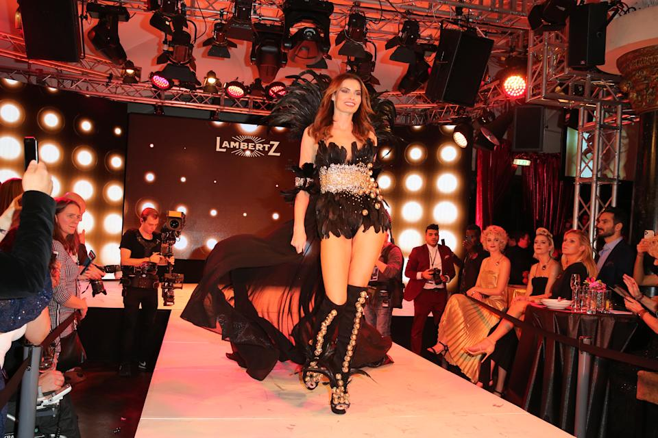 """COLOGNE, GERMANY - FEBRUARY 03: Rebecca Kunikowski during the Lambertz Monday Night 2020 """"Wild Chocolate Party"""" (Schokoparty) on February 3, 2020 in Cologne, Germany. (Photo by Gisela Schober/Getty Images)"""