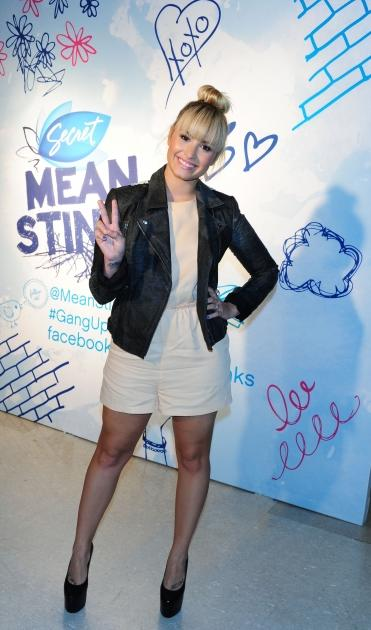 Demi Lovato during her visit to The Young Women's Leadership School in East Harlem on September 20, 2012 in New York City --