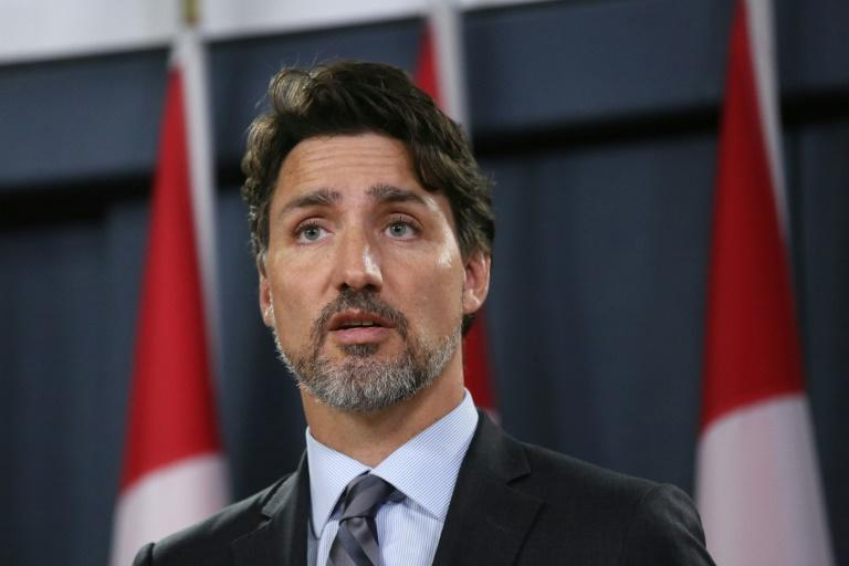 """Canadian Prime Minister Justin Trudeau (pictured January 11, 2020) said the tensions in Iran that caused a jetliner to be shot down were """"brought about by US actions"""""""