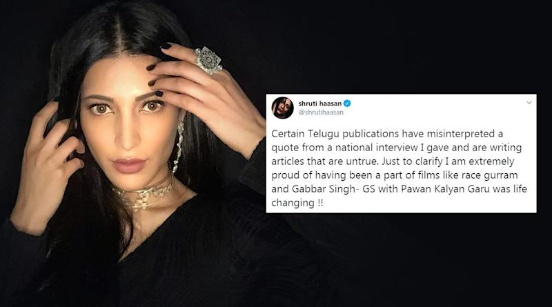 Shruti Haasan Slams Publications For Misinterpreting Her Interview Quotes (See Tweets)