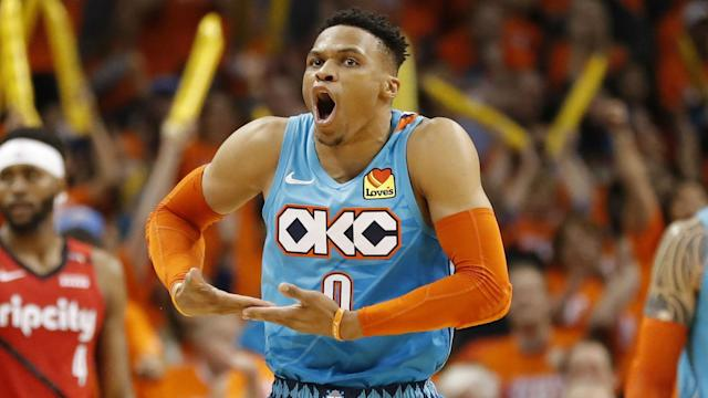Westbrook will reunite with former Oklahoma City teammate James Harden in Houston after the latest NBA blockbuster deal.