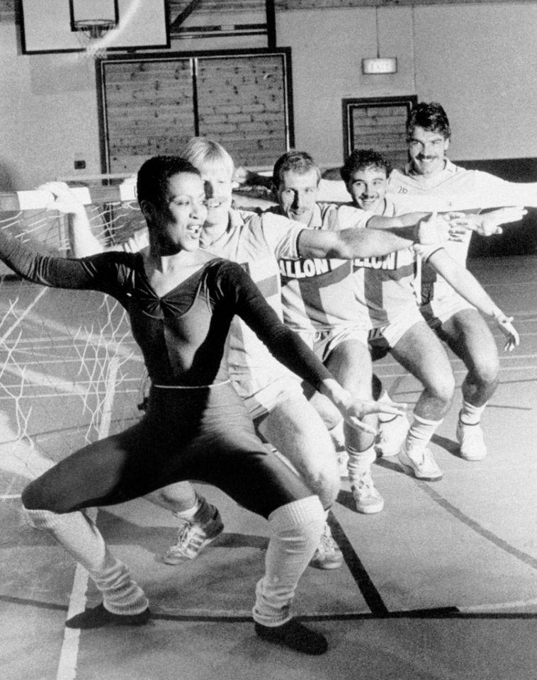 <p>1983: Getting in some ballet practice while at Coventry City </p>