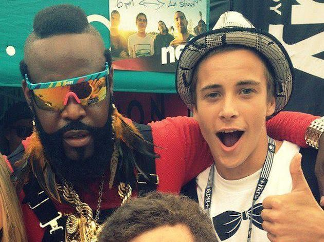 Mr. T and Harrison Van Dorn just broing out -- Facebook
