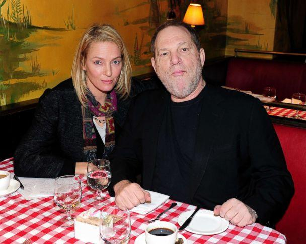 PHOTO: Uma Thurman and Harvey Weinstein attend Uma Thurman Hosts Brunch for The Hateful Eight's Samuel L. Jackson, Jennifer Jason Leigh and Walton Goggins at Monkey Bar, Jan. 5, 2016 in New York City. (Owen Hoffmann/Patrick McMullan via Getty Image)