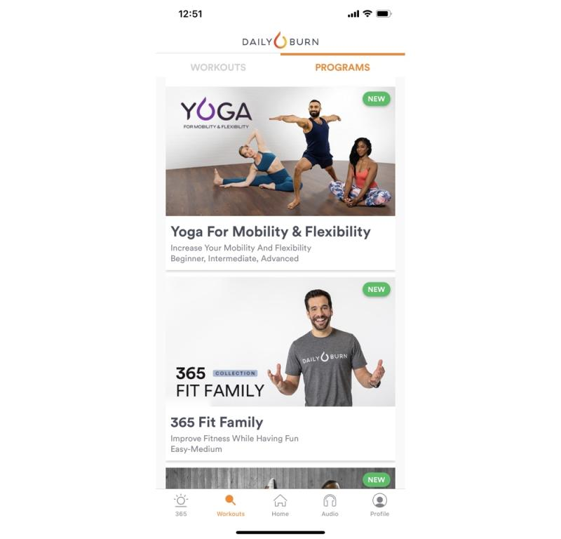 Daily Burn is one of the best known at home workout apps, and features tons of different options for helping you get in shape. (Image: Daily Burn)