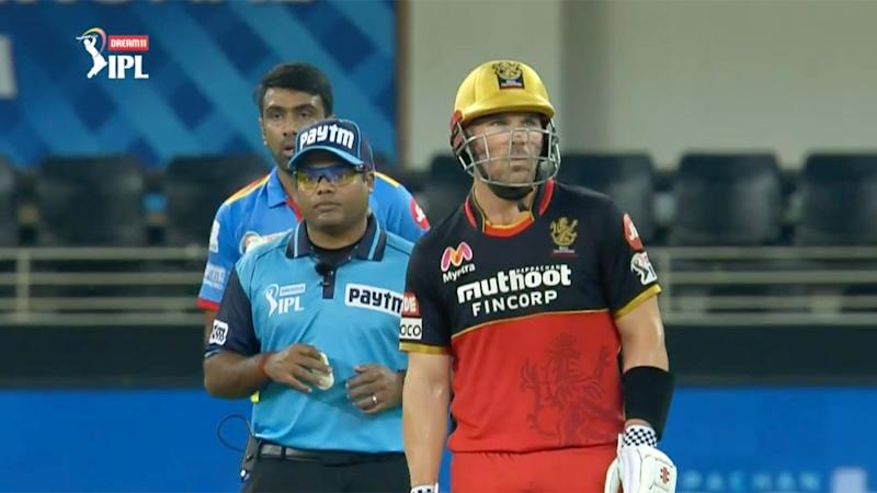 Aaron Finch was given a reprieve by Ravi Ashwin in the IPL. Pic: IPL