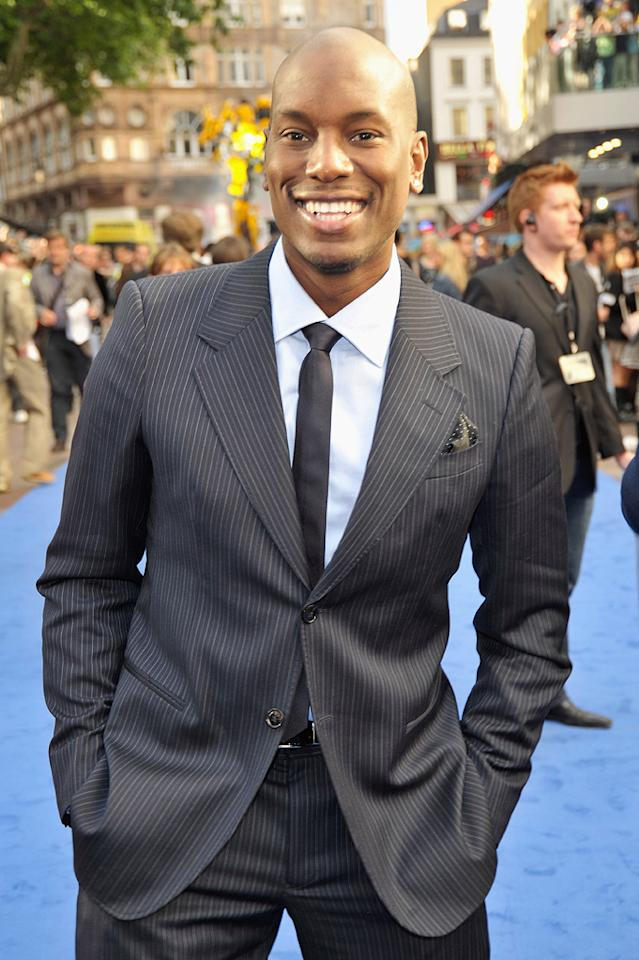 """<a href=""""http://movies.yahoo.com/movie/contributor/1804500453"""">Tyrese Gibson</a> at the London premiere of <a href=""""http://movies.yahoo.com/movie/1809943432/info"""">Transformers: Revenge of the Fallen</a> - 06/15/2009"""