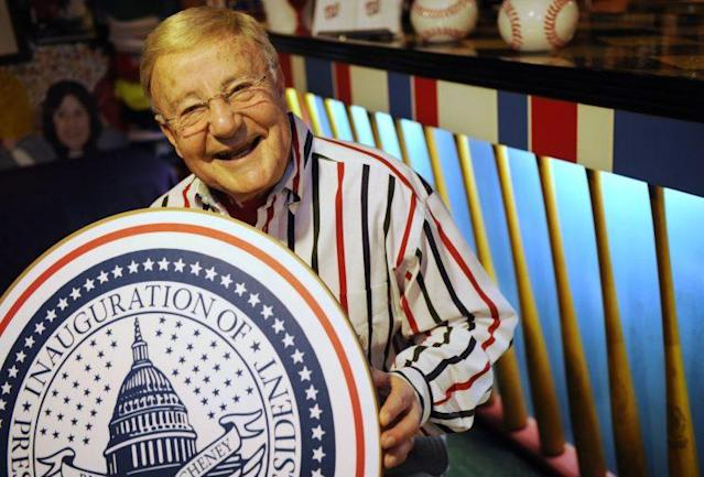 Charlie Brotman has announced every inauguration parade since 1957. (AP Photo)