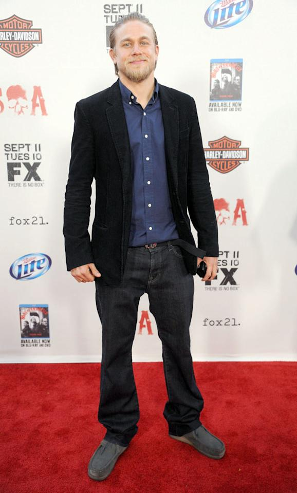 "Charlie Hunnam attends the ""Sons of Anarchy"" Season 5 premiere screening at Westwood Village on September 8, 2012 in Los Angeles, California."
