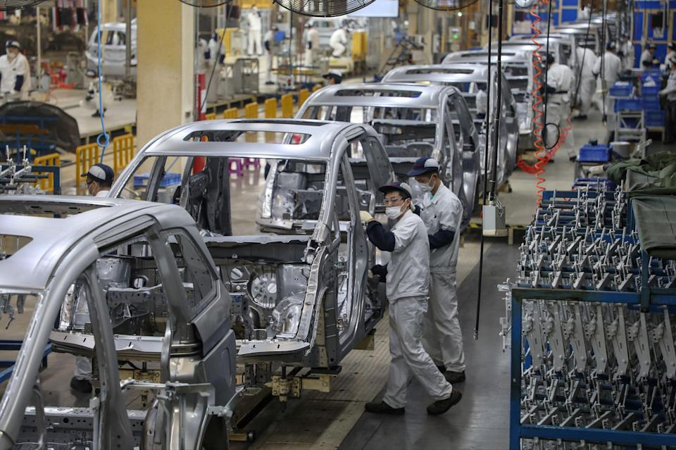 <p>Concerns about Chinese manufacturing weigh on sentiment</p> (AFP via Getty Images)