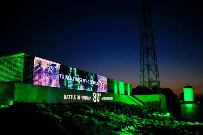 """RAF Bawdsey, a former radar station in Suffolk, is one of two sites where an """"emotive"""" lightshow tribute will take place to highlight the achievements of women and other """"unsung heroes"""" during the Battle of Britain. (PA)"""