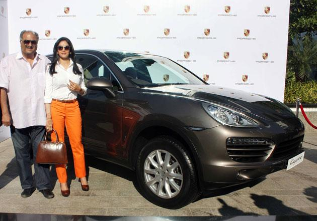 Sridevi who is basking in the success of her comeback flim gifted her husband Boney Kapoor a swanky new Porsche