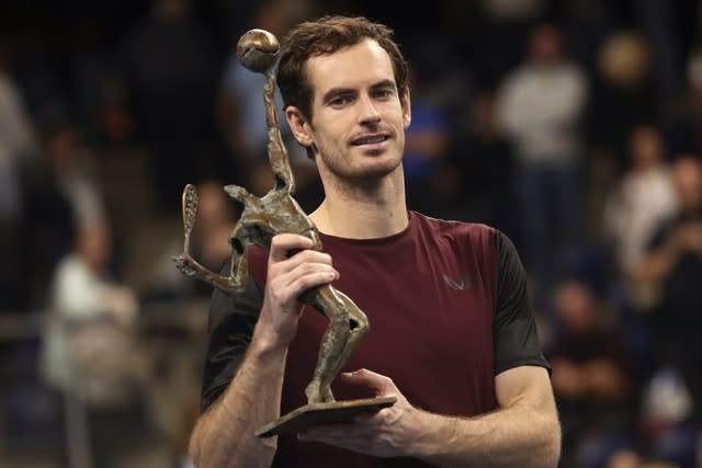 An emotional Andy Murray claimed his first ATP Tour title for more than two-and-a-half years at the European Open in Antwerp (Francisco Seco/AP)