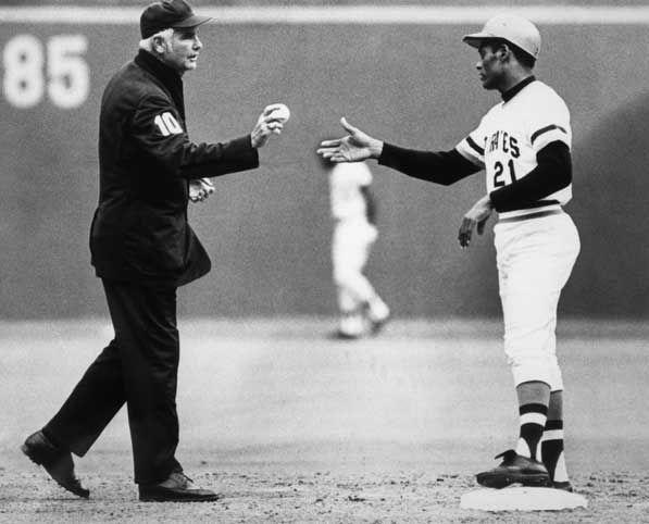 """<p><strong>September 30, 1972</strong>: Roberto Clemente of the Pittsburgh Pirates, the greatest Latino star of his era, doubles off the Mets' Jon Matlack in the final game of the season. It was his 3,000th career hit—and his last. On New Year's Eve, Clemente died in a plane crash while traveling to aid earthquake victims in Nicaragua. The Hall of Fame waived its five-year-waiting period before induction, and Clemente was elected to the Hall in 1973. """"With his induction, Clemente broke through another of baseball's barriers and became the first foreign-born major-leaguer to reach the Hall of Fame,"""" says Joseph Wallace, author of <em><a href=""""https://www.amazon.com/Grand-Old-Game-Days-Baseball/dp/0810955946?tag=syn-yahoo-20&ascsubtag=%5Bartid%7C10054.g.28170941%5Bsrc%7Cyahoo-us"""" rel=""""nofollow noopener"""" target=""""_blank"""" data-ylk=""""slk:Grand Old Game"""" class=""""link rapid-noclick-resp"""">Grand Old Game</a></em> and <em><a href=""""https://www.amazon.com/Baseball-Anthology-Photographs-Interviews-Memorabilia/dp/0810991799?tag=syn-yahoo-20&ascsubtag=%5Bartid%7C10054.g.28170941%5Bsrc%7Cyahoo-us"""" rel=""""nofollow noopener"""" target=""""_blank"""" data-ylk=""""slk:The Baseball Anthology"""" class=""""link rapid-noclick-resp"""">The Baseball Anthology</a>.</em><br> </p>"""