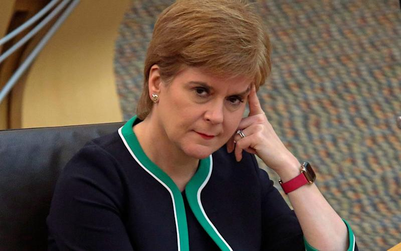 Nicola Sturgeon's government has published figures showing Scotland's notional deficit has increased again - PA