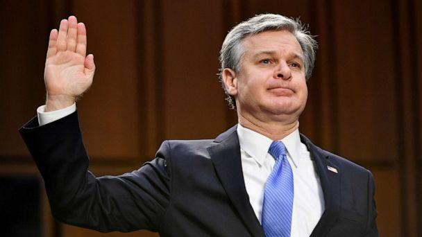 PHOTO: FBI Director Christopher Wray testifies before the Senate Judiciary Committee about the January 6th attack on the U.S. Capitol, on Capitol Hill on March 2, 2021 in Washington, DC. (Mandel Ngan/Getty Images)