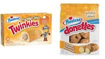 "<p>The Hostess <a href=""https://www.businesswire.com/news/home/20200903005535/en"" rel=""nofollow noopener"" target=""_blank"" data-ylk=""slk:fall treat lineup"" class=""link rapid-noclick-resp"">fall treat lineup</a> looks incredible this year, and among the returning seasonal desserts we so desperately crave are pumpkin spice Twinkies and caramel crunch mini donuts. They're on shelves now and only available for a limited time, so grab them while you can!</p>"
