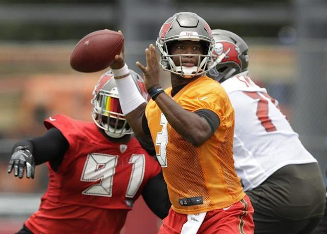 Jameis Winston gets loose. (AP)