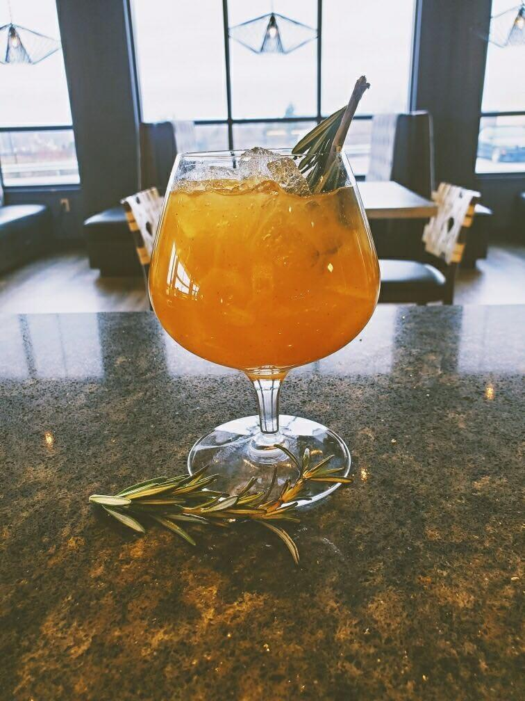 The Earth, Fruit & Fire mocktail will warm you at Jacksons Restaurant + Bar near the Beaver Valley Mall.
