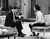 """<p>Mary Tyler Moore <a href=""""https://www.metv.com/stories/why-mary-tyler-moores-pants-were-a-big-deal"""" rel=""""nofollow noopener"""" target=""""_blank"""" data-ylk=""""slk:made television history"""" class=""""link rapid-noclick-resp"""">made television history</a> by being one of the first women on TV to wear pants. It was reportedly so scandalous that the producers limited her to one pants-wearing scene per episode. It's safe to say things have <em>definitely </em>changed since then! </p>"""