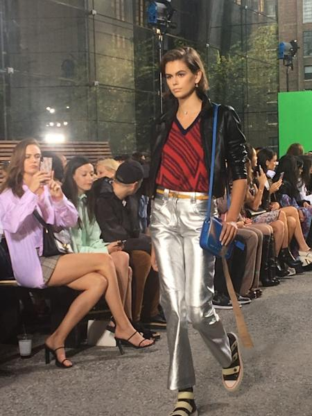 The Coach runway show taking place in New York during Fashion Week