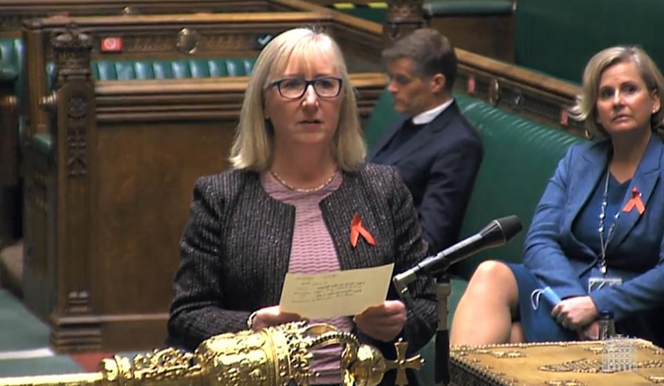 <p>The vote is read out in the House of Commons on Tuesday evening</p> (PA)