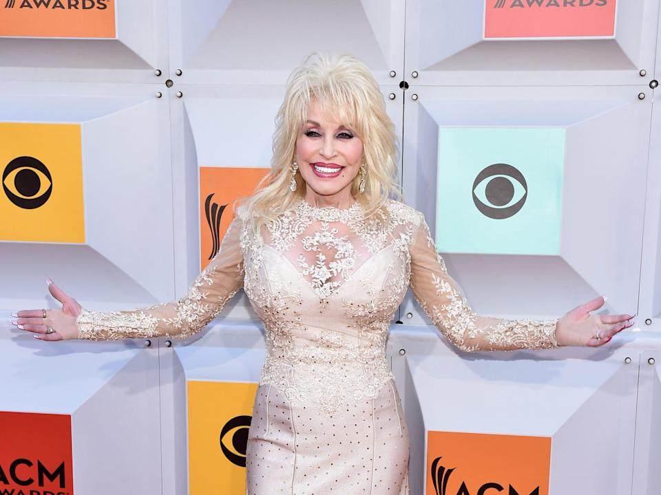 Dolly Parton at the Academy of Country Music Awards in 2016.