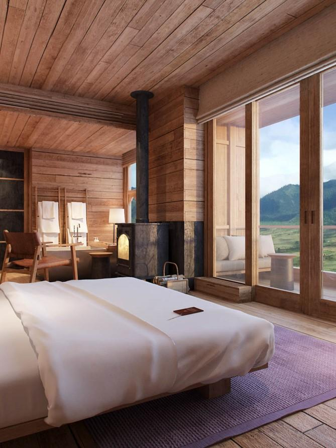 A lodge suite at Six Senses Gangtey. (Six Senses)