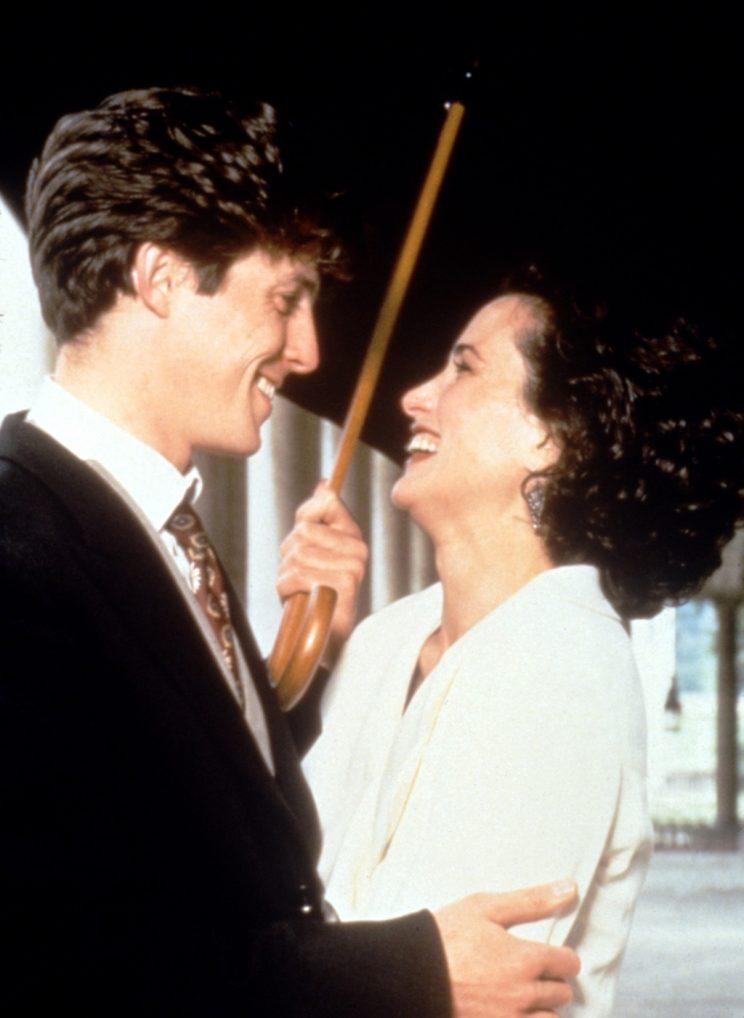 Hugh Grant and Andie MacDowell in 'Four Weddings and a Funeral' (Photo: Everett)