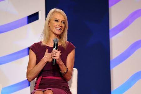 White House counselor Kellyanne Conway speaks at the Values Voter Summit of the Family Research Council in Washington, DC, U.S. October 13, 2017. REUTERS/James Lawler Duggan