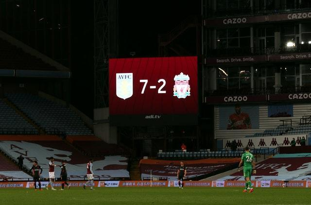 The 7-2 defeat at Villa Park was Liverpool's heaviest in 57 years