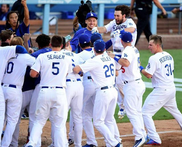 The Dodgers overcame a record number of injuries to win the NL West. (Getty Images/Harry How)