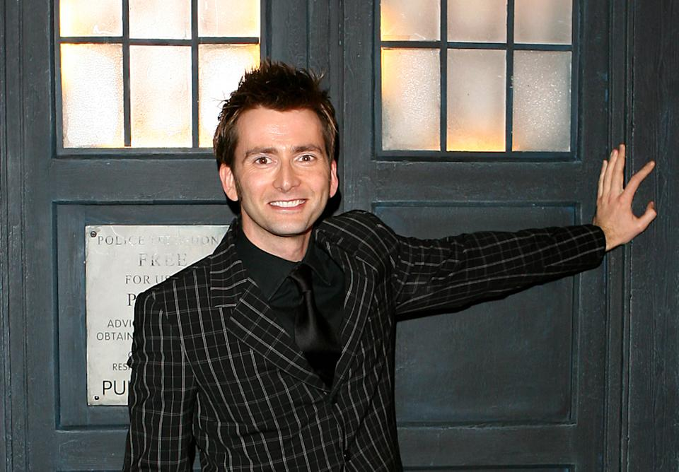 David Tennant arrives for the Gala Screening of the Doctor Who Christmas espisode ('Voyage of the Damned', TX: BBC One, Christmas Day, Tuesday December 25, 2007 @ 1850) at The Science Museum in west London.   (Photo by Anthony Devlin - PA Images/PA Images via Getty Images)