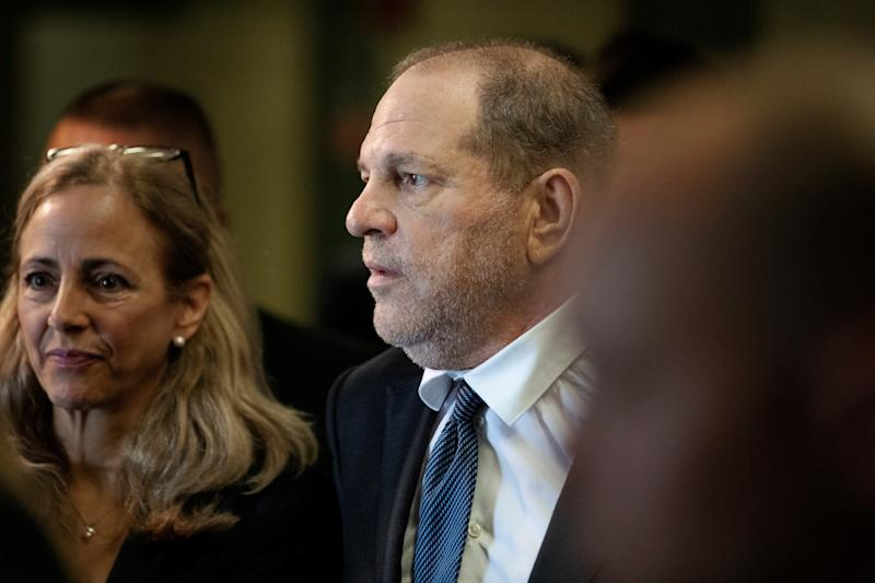 Film producer Harvey Weinstein departs following a hearing in New York State Supreme Court in the Manhattan borough of New York, U.S., July 11, 2019. REUTERS/Lucas Jackson