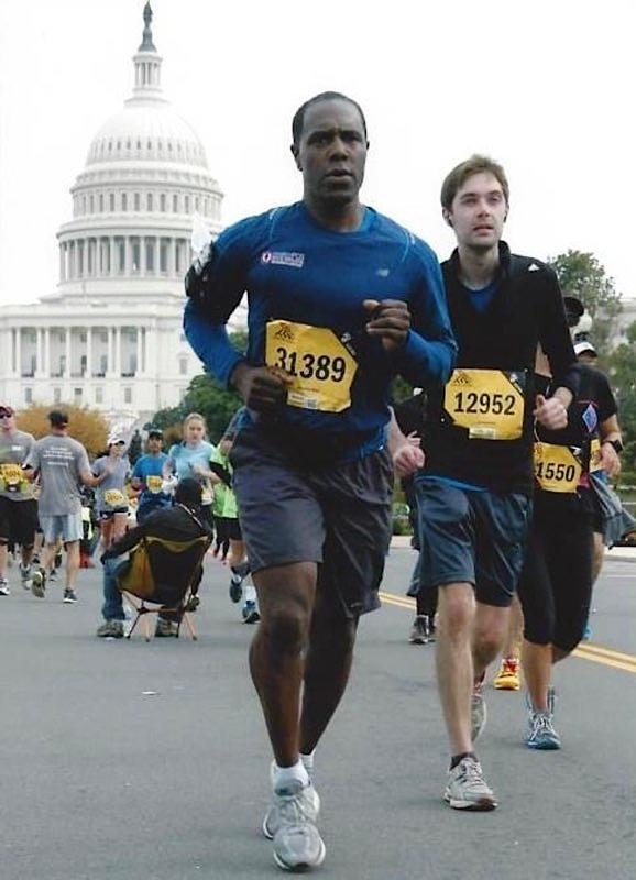 Image:  Kevin O. Davis running in Washington, D.C. (Courtesy Kevin O. Davis)