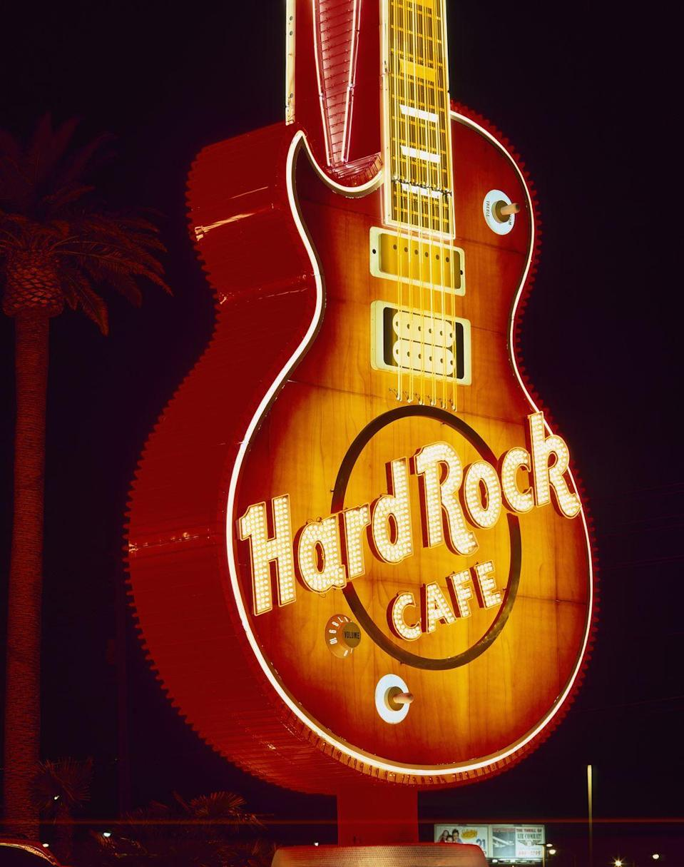 "<p>Enjoy a meal surrounded by rock and roll memorabilia. Most <a href=""https://www.hardrockcafe.com/locations.aspx"" rel=""nofollow noopener"" target=""_blank"" data-ylk=""slk:Hard Rock locations"" class=""link rapid-noclick-resp"">Hard Rock locations</a> are open on Christmas Day until 11 p.m., just make sure to double check with your local restaurant. Hours may vary. </p>"