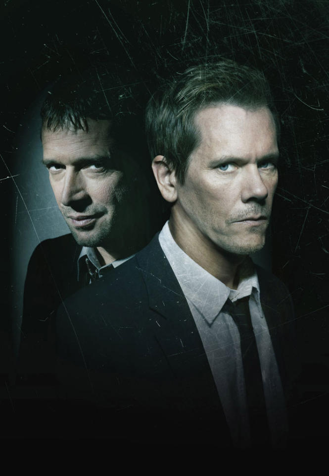 "Former FBI agent Ryan Hardy (Kevin Bacon) is called out of retirement to track down Joe Carroll (James Purefoy) in the fast-paced psychological thriller ""The Following"" on Fox."