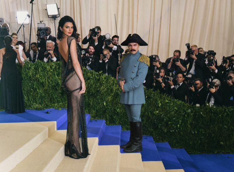 Kirby Jenner and Kendall Jenner at the 2017 Met Gala. (Photo: Getty/@kirbyjenner)
