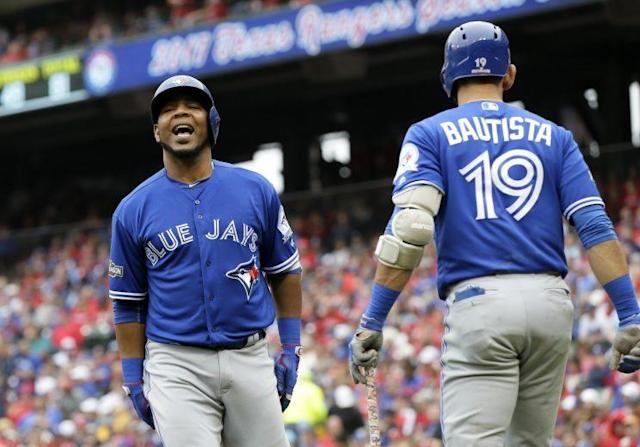 Edwin Encarnacion and Jose Bautista both received qualifying offers from the Blue Jays and turned them down. (AP)