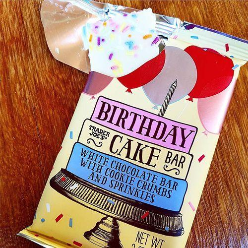 """<p>For some reason that has yet to be pinpointed, everything tastes better when it's birthday cake flavor (it's probably the sprinkles). The recent release of <a href=""""https://www.bestproducts.com/eats/news/a920/trader-joes-birthday-cake-bar-with-sprinkles/"""" rel=""""nofollow noopener"""" target=""""_blank"""" data-ylk=""""slk:TJ's Birthday Cake Bar"""" class=""""link rapid-noclick-resp"""">TJ's Birthday Cake Bar</a> adds in an extra special ingredient — cookie crumbs.</p><p><strong>More:</strong> <a href=""""https://www.bestproducts.com/buzzing-news/a709/how-to-cut-a-cake/"""" rel=""""nofollow noopener"""" target=""""_blank"""" data-ylk=""""slk:You've Been Cutting Round Cake Wrong This Entire Time"""" class=""""link rapid-noclick-resp"""">You've Been Cutting Round Cake Wrong This Entire Time</a></p>"""