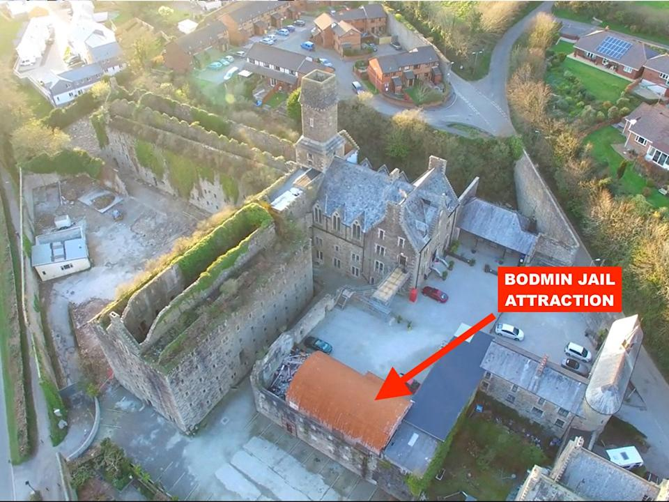 Bodmin Jail Hotel Aerial Skitch (Bodmin Jail Hotel Attraction)