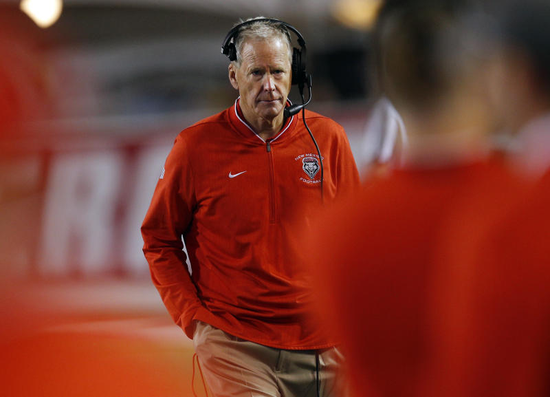 New Mexico coach Bob Davie is recovering after he was taken to a hospital with chest pains following the Lobos' season-opening win against Sam Houston State.