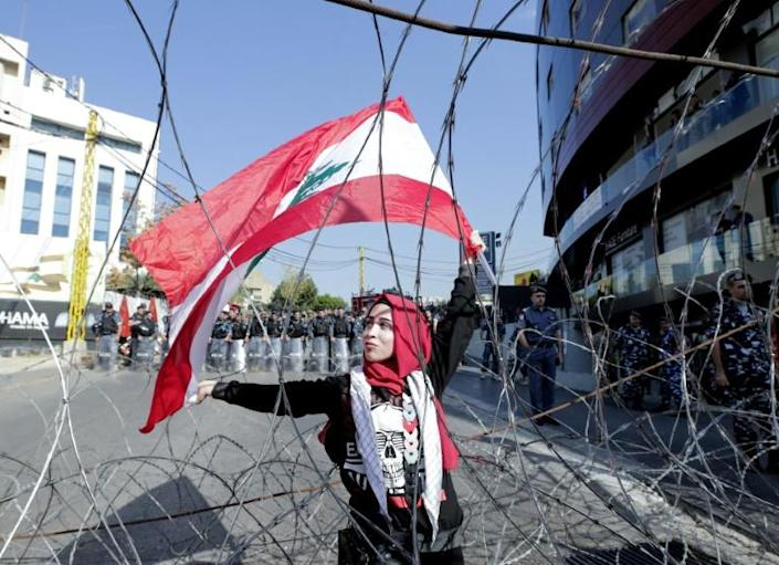 The tensions came after a peaceful day of demonstrations, more than a month into a spontaneous nationwide street movement against the political elite (AFP Photo/ANWAR AMRO)