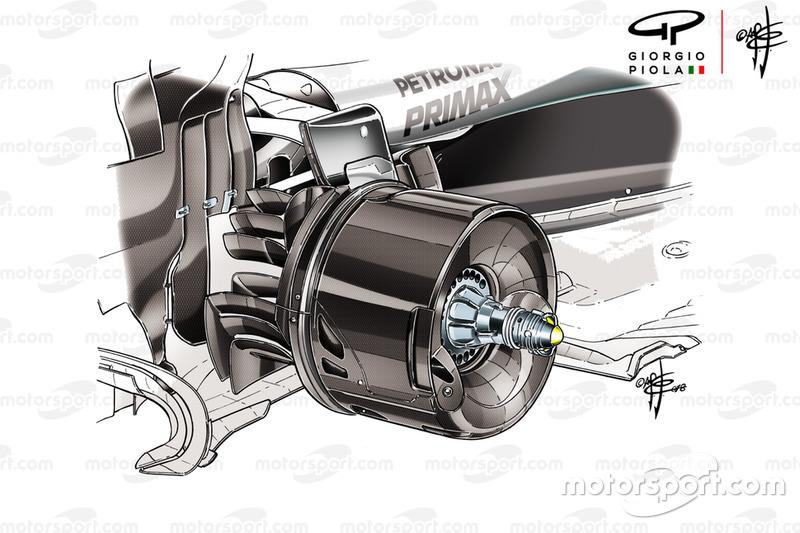 Mercedes AMG F1 W09 brakes duct