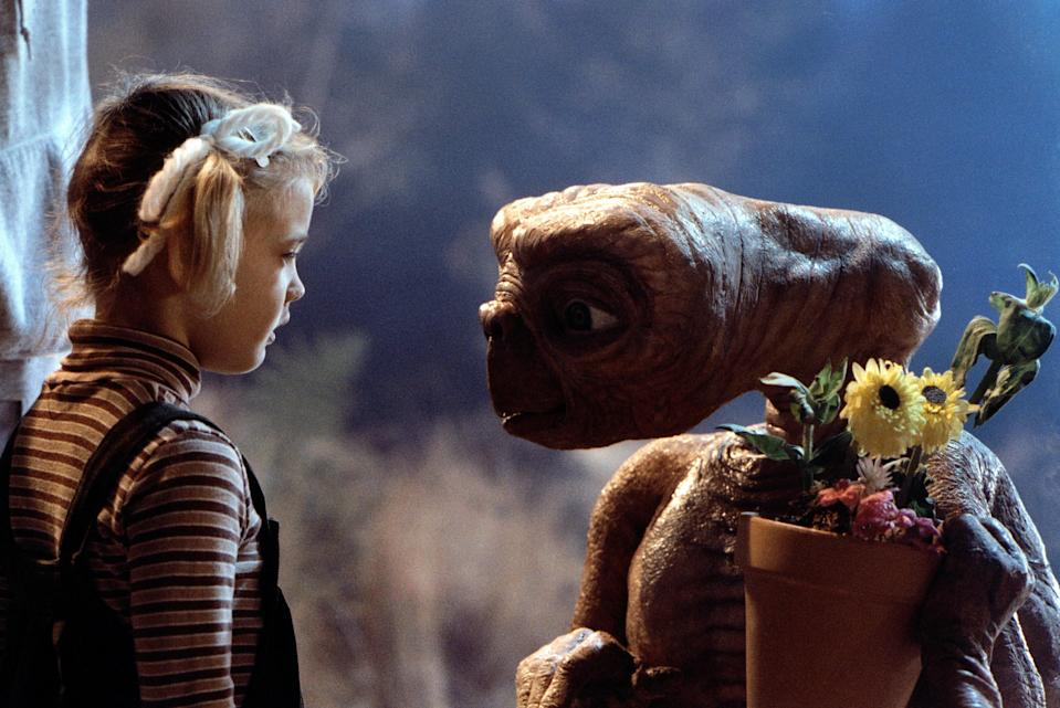 """<p>While you wait for another season of <em>Stranger Things</em> to hit Netflix, revisit the Steven Spielberg classic that greatly inspired the series: <em>E.T.</em>, a heartwarming drama about a group of suburban kids who help a stranded alien find its way home.</p> <p><em>Available to rent on</em> <a href=""""https://www.amazon.com/T-Extra-Terrestrial-Henry-Thomas/dp/B009GN6DT4"""" rel=""""nofollow noopener"""" target=""""_blank"""" data-ylk=""""slk:Amazon Prime Video"""" class=""""link rapid-noclick-resp""""><em>Amazon Prime Video</em></a><em>.</em></p>"""