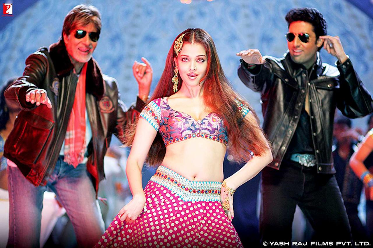 <p>When Bunty Aur Babli released in 2005, Aishwarya Rai and Abhishek Bachchan were hardly a pair. (By all accounts, they started seeing each other during the filming of Dhoom 2, though they had acted in films like Dhai Akshar Prem Ke and Kuch Naa Kaho earlier.) But the rambunctious Kajra Re song, which features Aishwarya as a coquettish courtesan teasing and taunting both Abhishek and Amitabh to the accompaniment of racy dance movements, was retrospectively used to spread some unpalatable rumours. </p>