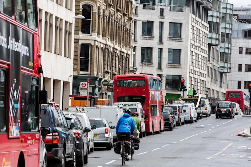 Air pollution: Experts say the low-emission bus zones are the the main reason for an improvement to London's air quality: Alex Lentati