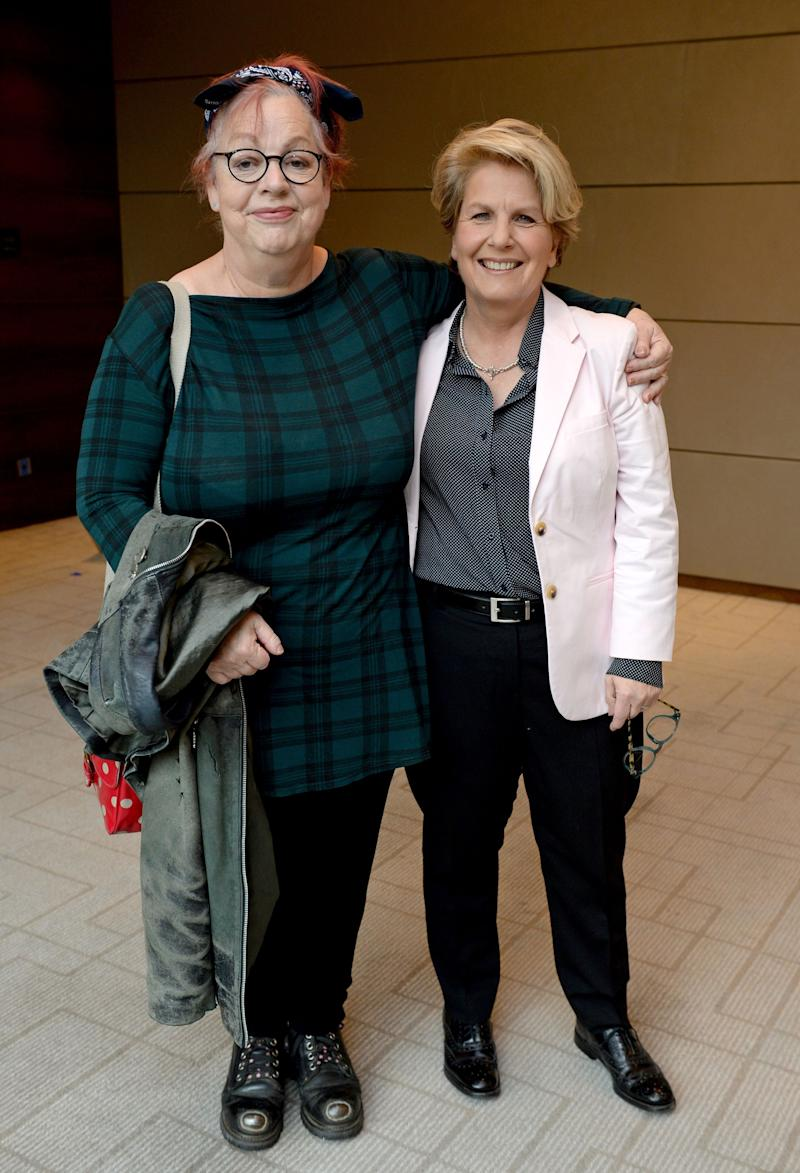 Jo Brand (left) and Sandi Toksvig attend the Women of the Year Awards 2015 at the InterContinental hotel, London.